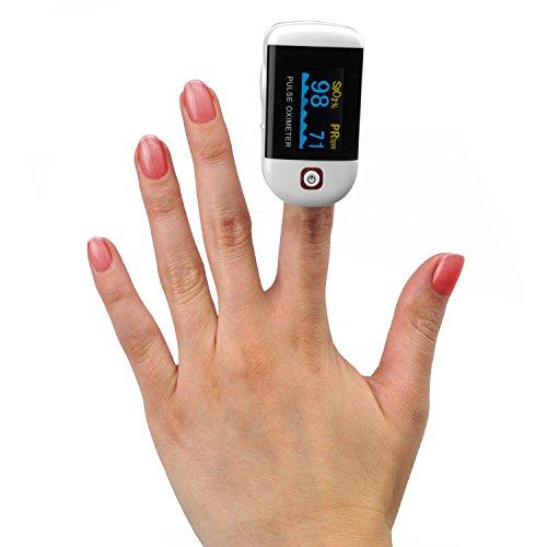 MedX5 OLED Finger Pulsoximeter, Pulsmessgerät, Fingerpulsoximeter, Oximeter, Pulsmesser, Medizinprodukt nach MDD