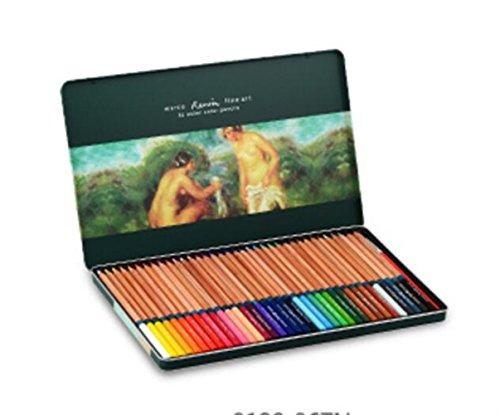 BrillantFarben Wachsmalstifte 36 Stück Profis Öl Kunst Buntstifte für Erwachsene mit Eisen-Box deal für alle Kinder Schulen Kinderzimmer Restaura