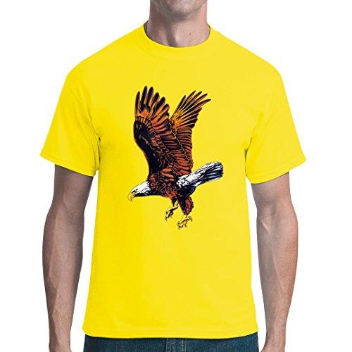 Fun unisex T-Shirt - Natur Motiv: Fliegender Adler by Im-Shirt Gelb