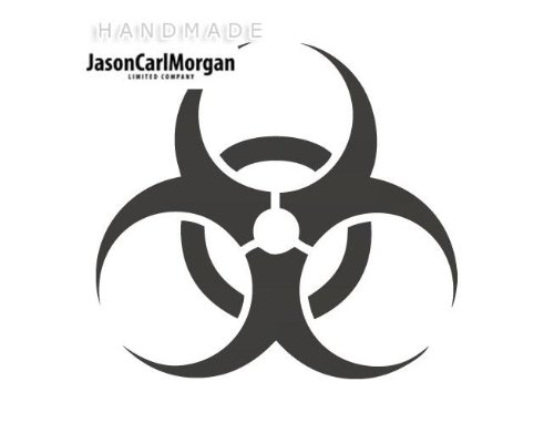 Multiuso, 75 mm, con logo Biohazard auto Window Laptop Vinyl Sticker da parete, CHA