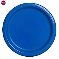 Royal Blue Round Paper Plates Pack of20(18cm)