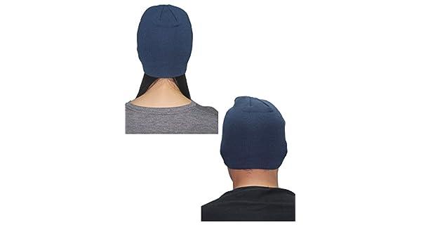 48e662dea43 Hurley Unisex Double-Layer Ski   Skate Visor Beanie   Winter Hat one size  Dark Blue  Amazon.co.uk  Clothing