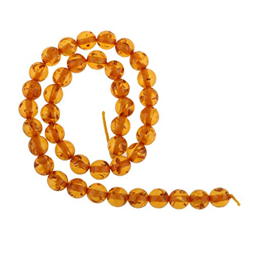 10 Millimetri Mogano Ambra Sintetica Perle Tondo Filo Allentato 15.5 (10 Millimetri Sintetico Perle)