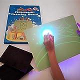 iLight - Pizarra Infantil Mágica de Dibujo con Luz Real – Juego de Pintar para Niños Niñas de 3 a 9 años que Fomenta la Creatividad - Incluye Tablero + 1 Bolígrafo de Luz + 2 Plantillas [Tamaño A4]