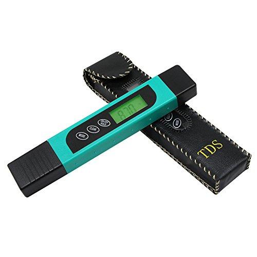 Wasserqualitätsmesser, professionelles TDS-Messgerät, digitales Wassertester mit LED-Display, Handheld 0–9990 ppm TDS Messung, Wassertester ideal für Trinkwasser, Aquarien und mehr, grün, 1
