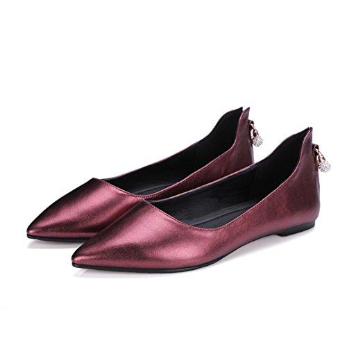 Confort plat chaussures asakuchi au printemps/Coréen strass pointu Joker chaussures femme A