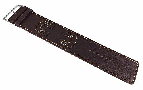 Bruno Banani Unterlagenband Ersatzband Uhrenarmband in XL Leder braun für XT3 Gents BR20659