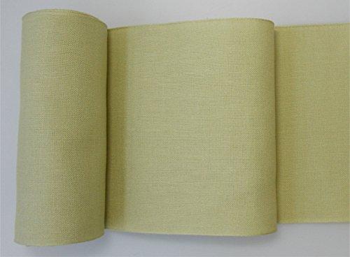 Meterware Leinenband salbei 20 cm breit zum Sticken, Preis pro 10 cm Länge (Kreuzstich-leinen-stoff)