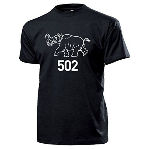 Schwere Panzer Abteilung 502 Logo Wh Tiger Panzer Wappen - T Shirt #14051, Farbe:Schwarz, Größe:Herren M