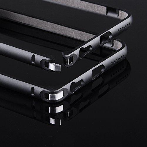 Ego ® de protection bumper ultra fine en aluminium pour iPhone en aluminium pour metal coque de protection téléphone portable, Aluminium, rose bonbon, für iPhone 4 4s noir