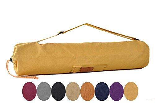 Yogatasche »Vikram« von #DoYourYoga aus hochwertigem Canvas (Segeltuch), aufwendig verarbeitet, für Yoga- und Pilatesmatten bis zu einer Größe von 186 x 63 x 0,6 cm, Pfirsisch