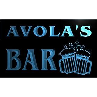 w082030-b AVOLA Name Home Bar Pub Beer Mugs Cheers Neon Light Sign