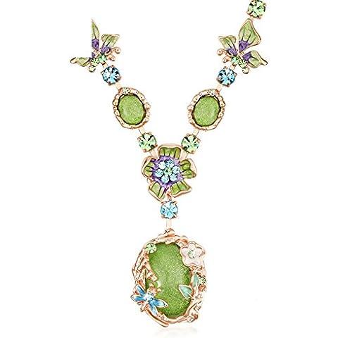 ZWX Bohemian decorazioni/Item/accessori di abbigliamento di moda/ Collana di fiori/ catene di clavicola-A