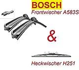 BOSCH Scheibenwischer Typ A583S + H251 für vorne + hinten. Passend u.a. für Mok 09/2012 - 01/2016