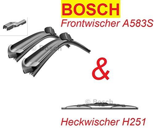 Bosch Scheibenwischer A583S / H251 für vorne und hinten Komplettsatz