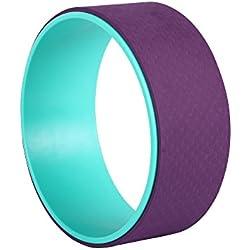Exerz EXYW-001 Rouleau de Pilates de Roue de Yoga de libération de Tension de Muscle - pour étirer, équilibrer, Augmenter la flexibilité et améliorer Le Bas du Dos - Violet