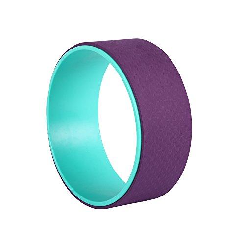Exerz EXYW-001 Yoga Rad/Stabiler und Rutschfester Yoga Wheel Rolle - um zu Strecken, zu balancieren, die Flexibilität zu erhöhen und Rückbeugen zu verbessern. Lindern Sie Schmerzen und Stress- Lila