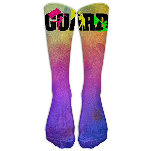 Damen Socke Affe Kostüm - ncnhdnh Colorful Band Color Guard Unisex Crew Cotton Athletic Sock Running Socks Tube Socks