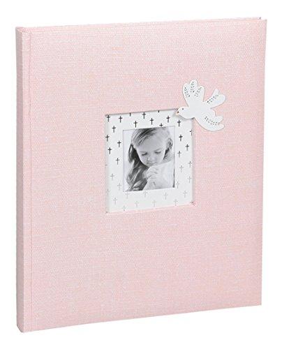 Ideal Kommunion Konfirmation Fotoalbum in 22x27 cm 40 Weiße Seiten Foto Album Fotobuch: Farbe: Rosa