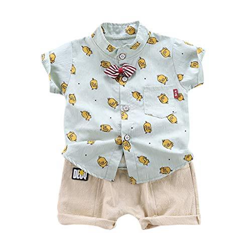 Crazy Hawaii-hemden (Pwtchenty Sommer Kinder Kleidung Kleinkind Baby Boys Gentleman Infant Tops T-Shirt HosenträGer Shorts Set Outfits Hawaii Hemd Strand Drucksatz)
