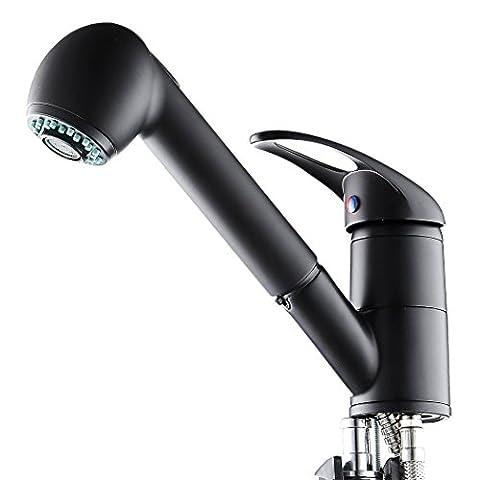 Homdox Mischbatterie Küchenarmatur Einhebelmischer drehbar Wasserhahn Armatur für Küche Waschbecken