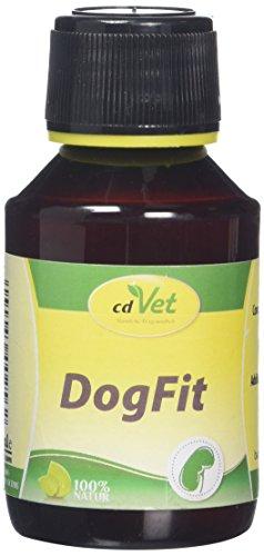 cdVet Naturprodukte DogFit 100 ml - Hund - flüssiges Ergänzungsfuttermittel - Versorgung der Entgiftungsorgane + Verdauungsorgane - Versorgung mit Vitaminen + Kräutern - optimale Kondition -