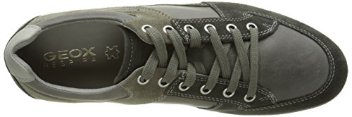 Geox U Symbol A, Chaussures à lacets homme Vert Kaki (C6372)