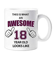 Idea Regalo - Bellissimo 18 Anni di Età Mug 18° Idea Regalo Compleanno