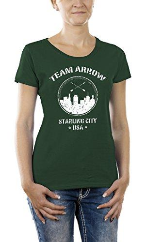 Touchlines Damen T-Shirt Team Arrow Grün (Bottle Green 03), Medium (Hemd Arrow)