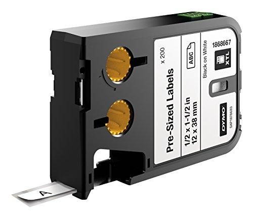 dymo-xtl-pre-sized-etiqueta-1-x1-negro-sobre-blanco-12-mm-x-38-mm