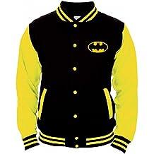 Batman Hombre College–Chaqueta Gotham City Sudadera Negro/Amarillo