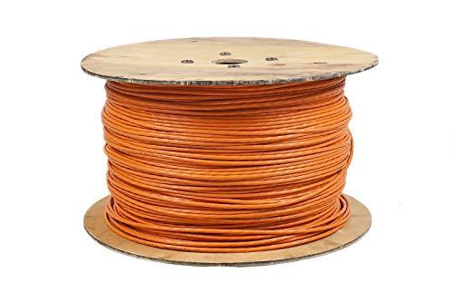 BIGtec Cat7 500m Kabel Verlegekabel Netzwerkkabel Datenkabel CAT 7 Installationskabel orange Netzwerk Ethernet Gigabit CAT.7 halogenfrei FRNC Kupfer Kategorie 7