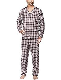 Flanell-Schlafanzug mit Karo-Design für Herren - Moonline