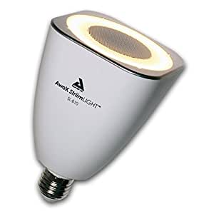 AwoX StriimLIGHT SL-B10 Lampadina LED con Altoparlante 10W Bluetooth Integrato, Bianco/Grigio