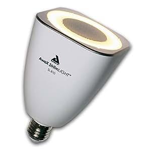 AwoX StriimLIGHT SL-B10 Lampadina LED con Altoparlante 10W Bluetooth Integrato, Bianco/Grigio