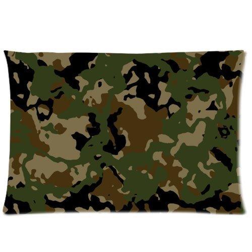 Camo Pillow Case Diseño Camuflaje Uniforme Militar