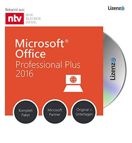 Original Microsoft® Office 2016 PRO (Professional Plus) Lizenzschlüssel + Lizenza ISO CD / DVD für 32 und 64 bit Deutsch inklusive Workstation 2016 für Office