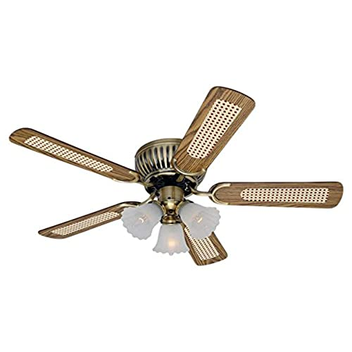 Cooling ceiling fans amazon low profile ceiling fan kisa brass 105 cm with 3 lights pull chains and reversible blades in mahogany oak mozeypictures Image collections