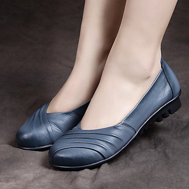 Confortevole ed elegante piatto scarpe donna primavera Appartamenti Comfort Casual in pelle tacco piatto volant nero blu borgogna altri Burgundy