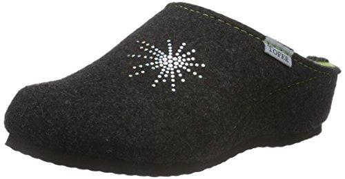 Tofee 74-504 Stern, Chaussons à doublure chaude femme Noir - Gris anthracite