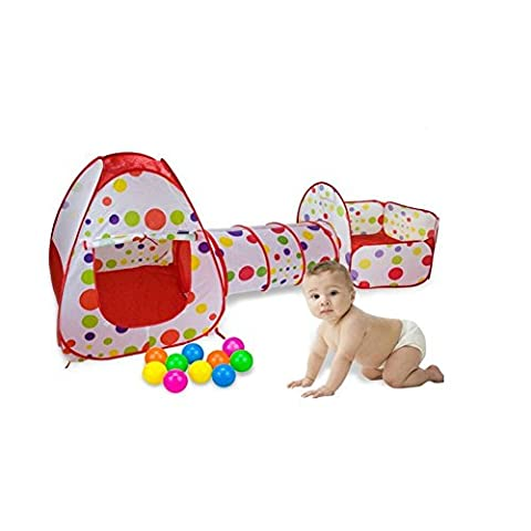 Tente de Jeu pour Enfants et Pop-Up Tunnel Tente Ball Pool avec Tunnel Toy House et piscine Easy