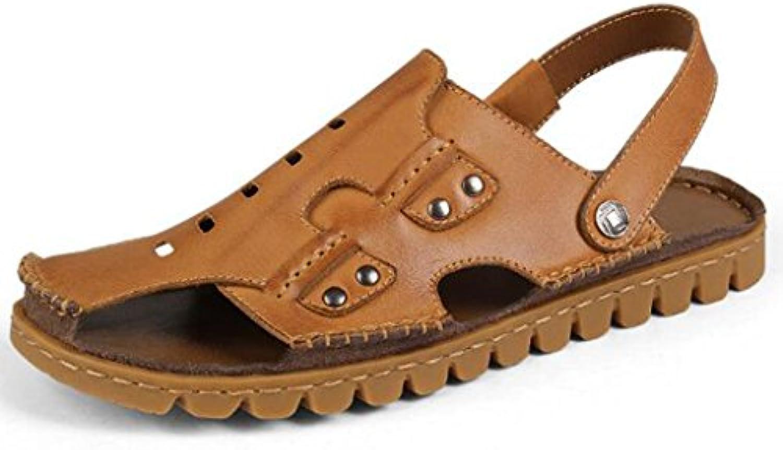 KAI LE Sandalen   Mens Summer Large Size Echtes Leder Sandalen/Rindsleder Sehnen Sohle/Fashion Wild Herrenschuhe