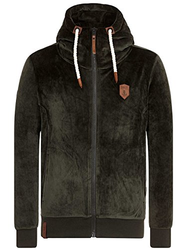 Naketano Male Zipped Jacket Birol Mack IV Dark Olive