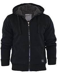 Veste à capuche pour homme DISSIDENT Gerard Sweat à capuche à fermeture Éclair en polaire Sherpa