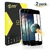 CRXOOX Verre Trempé pour iPhone 7 / iPhone 8, [2 Pack] Films de Protections en Verre Trempé, 3D Touch Compatible et Dureté de 9H, Anti-Rayures et Anti-Poussière pour iPhone 7 / iPhone 8(Noir)