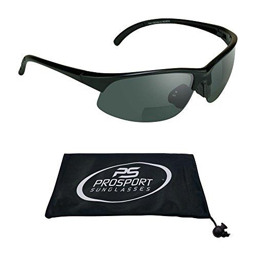proSPORTsunglasses Semi Randlos Bifokalwillen Sonnenbrille Mit Blauen Blocker Hd-Vision-Gelb Und Objektiven. Herren Groß Rauch
