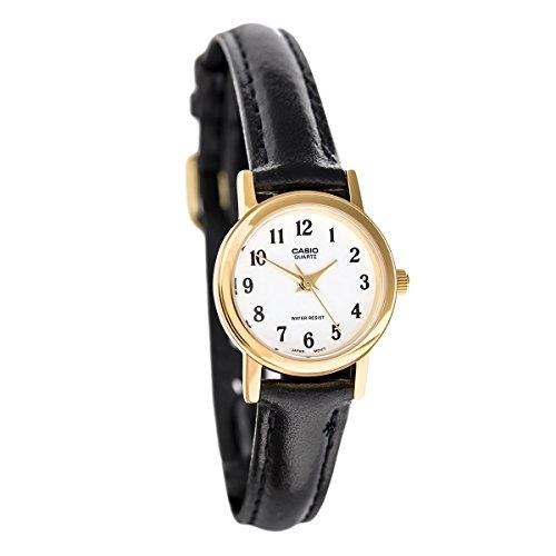 Casio 19053ltp-10-Uhr Frau Quarz Leder Armband Dial Weiß (Uhr Leder Casio Frau)