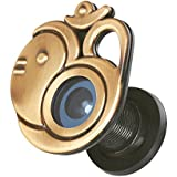MADHULI Ultra Clear 180 Degree Door Eye/Viewer (Antique Brass Finish) Om with Ganesha Model for Safe and Secure Home