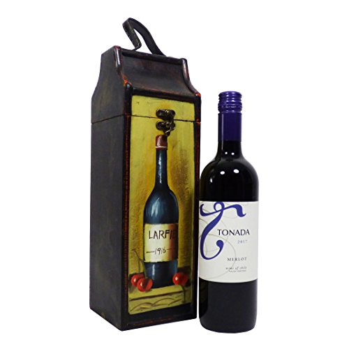 Tonada Red Wine 750ml in Quality Wooden Chest - Gift ideas for - Christmas, Fathers Day, Valentines, Presents, Birthday, Men, Him, Dad, Her, Mum, Thank you, Wedding Anniversary, Engagement, 18th, 21st, 30th, 40th, 50th, 60th, 70th, 80th, 90th