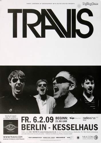 Premium Poster/Plakat   DIN A1   Live Konzert Veranstaltung » Travis - Berlin, Berlin 2009 «